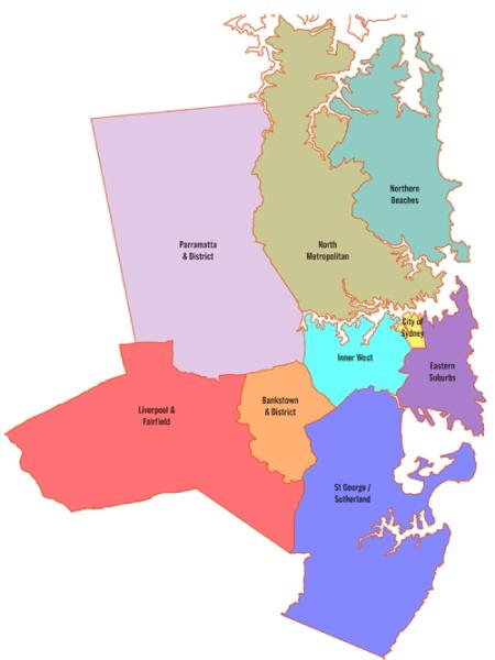 Entire Sydney Metropolitan Region